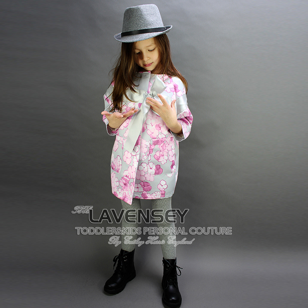 ФОТО Lavensey 2016 Girls Coats Spring Floral Print Baby Children Outer Wear Single Breasted O-Neck Collar Girl Jackets Child Coats