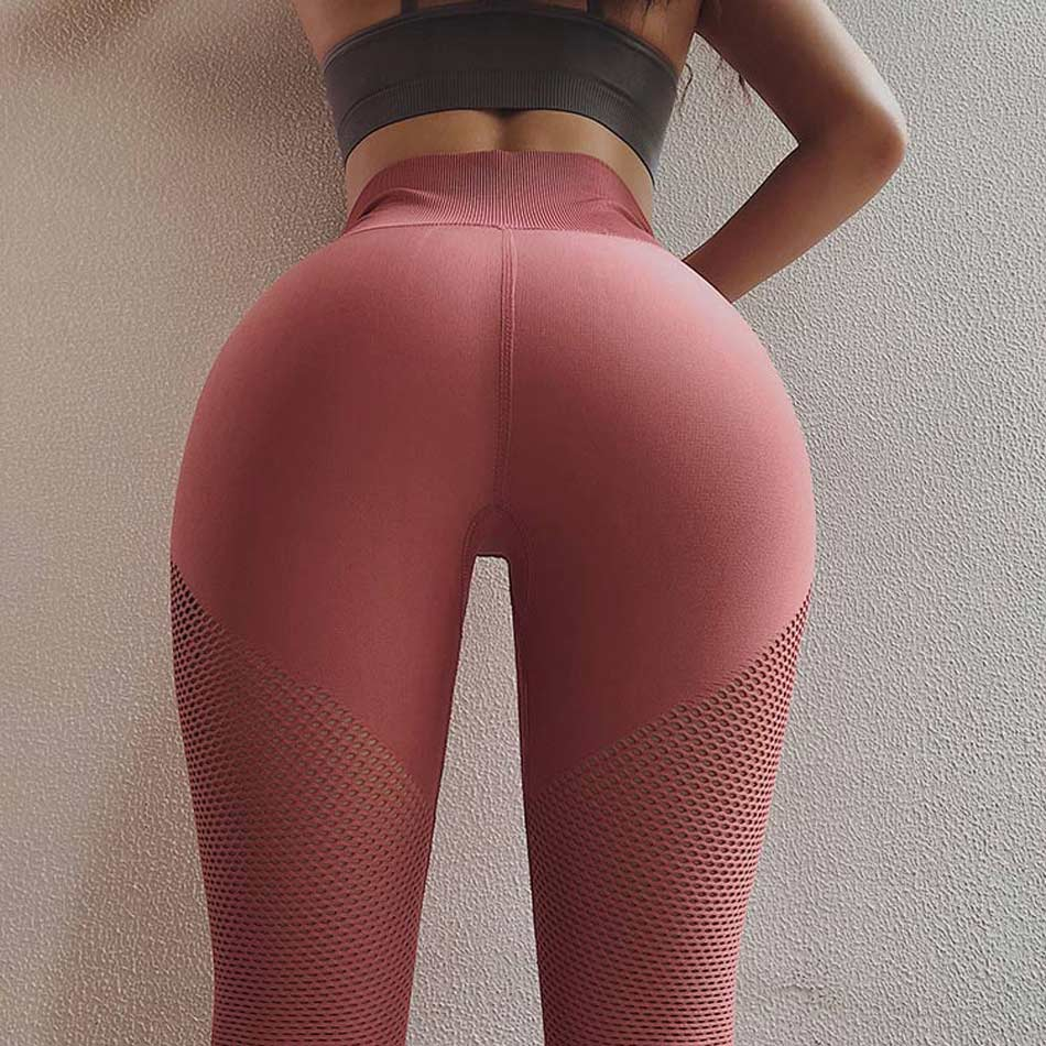 High waist yoga pants energy seamless yoga leggings tummy control gym leggings wokout scrunch butt sport leggings red pants 1