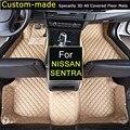Автомобильные Коврики для Nissan Almera Солнечный Sentra Sylphy Индивидуальные Ноги Ковры 3D Auto Ковры На Заказ