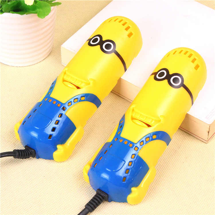 Ücretsiz Kargo Küçük Sarı Şekil Menekşe hafif ayakkabı Kurutucu Ayak Koruyucu Önyükleme Koku Deodorantı Nem Alma Cihazı Ayakkabı Kurutma Makinesi Isıtıcı