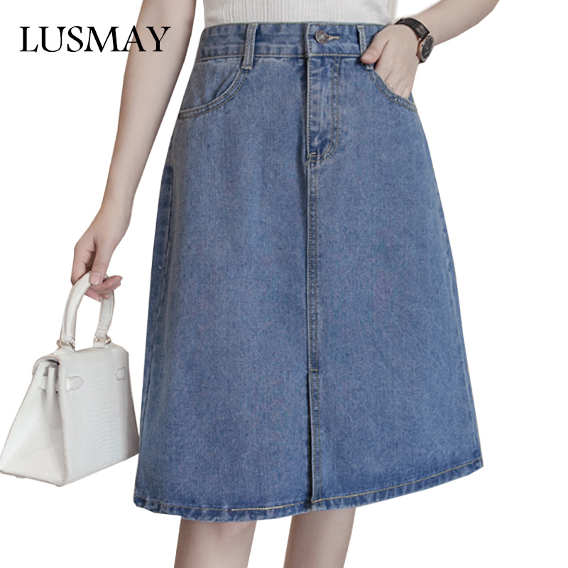 Online Get Cheap Knee Length Denim Skirts -Aliexpress.com ...
