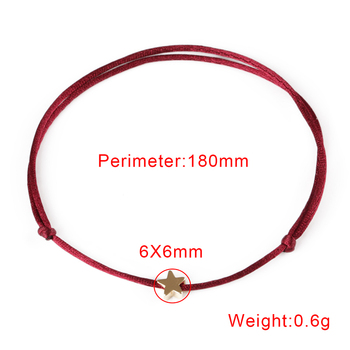 KEJIALAI Simple Star String Bracelet Adjustable Braiding Lucky Macrame Rope Bracelets For Women Men Children Handmade Jewelry 4