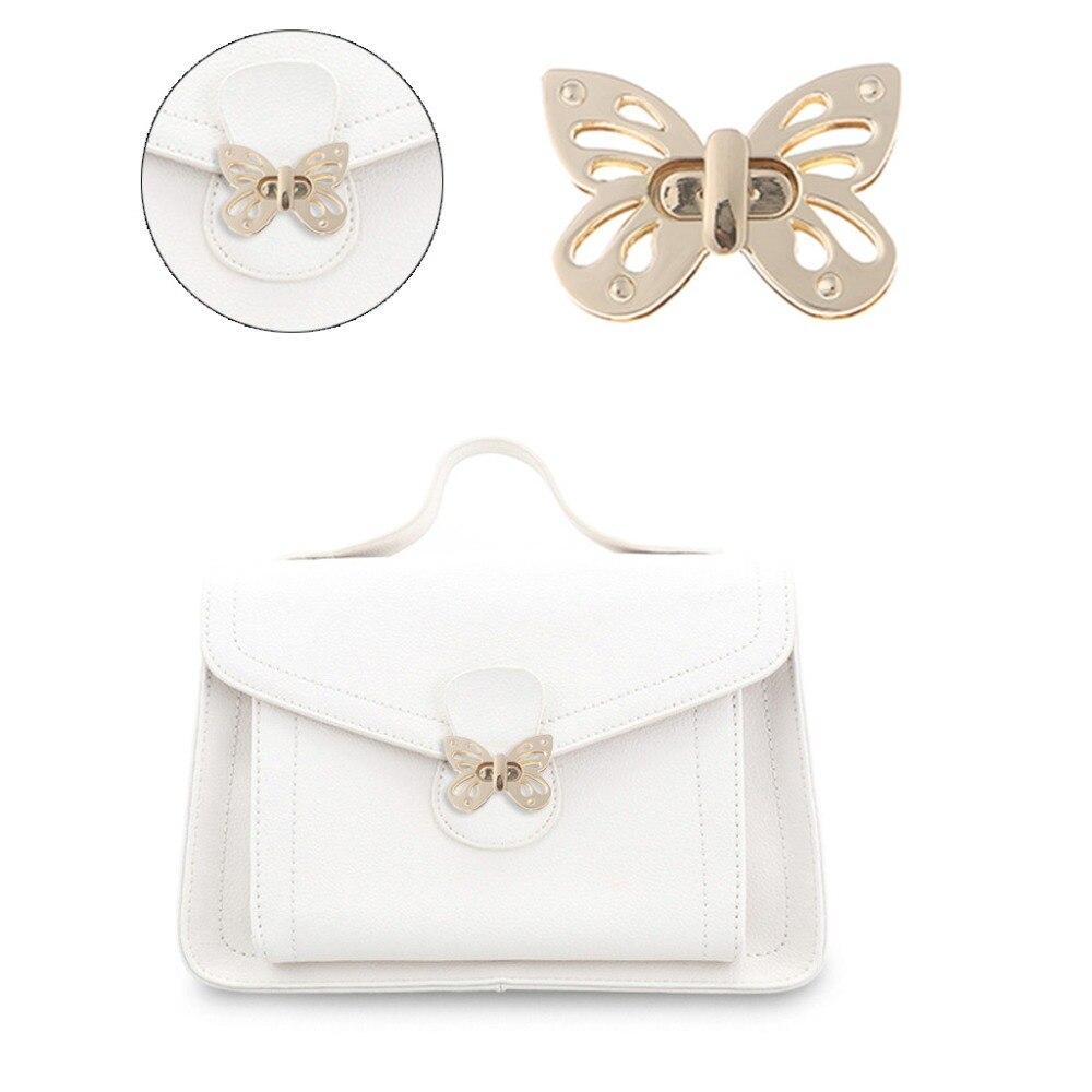 Women Butterfly Metal DIY Clasp Turn Twist Lock For Handbag Shoulder Bag Purse