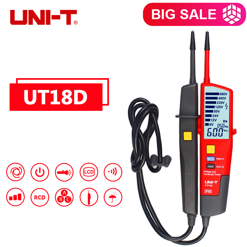 Auto Voltage Tester UNI T UT18D Voltage Detector Pen LED LCD Display UNI T UT18D Voltage