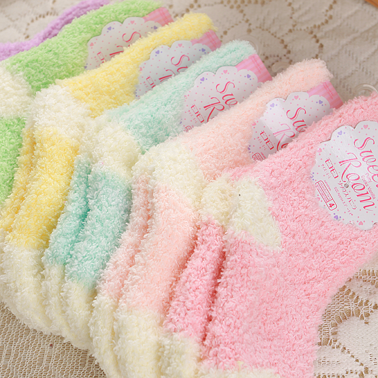 5pairs/lot Winter To Keep Warm Coral Fleece Fashion Able Sweet Candy Colors Baby Socks  Boy /girls Socks5pairs/lot Winter To Keep Warm Coral Fleece Fashion Able Sweet Candy Colors Baby Socks  Boy /girls Socks