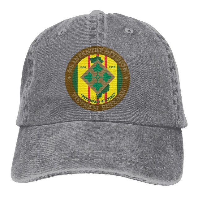 4th Infantry Division Vietnam Veteran Adjustable Baseball Caps Denim Hats  Cowboy Sport Outdoor 3e8b5c4f0f3