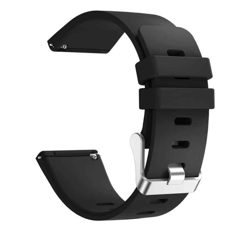 Silicone macio Substituição Versa Esporte Clássico Strap Band Para Fitbit Smartwatch rastreador de fitness pulseira de fitness tamanho grande
