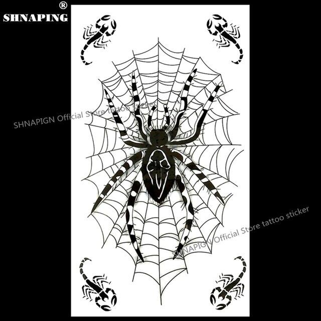 shnapign spider web designs temporary tattoo body art flash tattoo