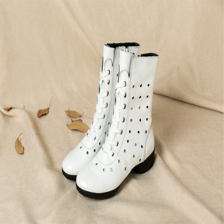 Dance Shoes Soft Soles Leather Dance Boots Women Heighten Modern Dance Square Boot Woman Dance Shoes Sports Boots jazz shoes woman sports sneaker children dance shoes leather women shoes white four square fitness dance shoes