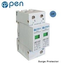 купить OPEN LBO-C40 Series Household Surge Protective Device SPD 1P+N 20kA-40kS 380VAC/385VAC Low Voltage Arrester Device Protector дешево
