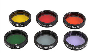 "1.25"" Eyepiece Filter Colorful Planetary & Moon Filters Kit Set for  Astronomical Telescope 6 pcs"