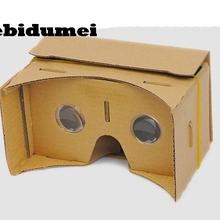 """kebidumei 10PCS DIY Magnet Cardboard Virtual Reality Mobile Phone 3D Viewing Glasses For 5.0"""" Screen 3D Glasses"""