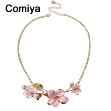 Romantic perfume feminino jewelry mujer necklaces resin flower shaped pendant women accessories ornament colgantes necklace