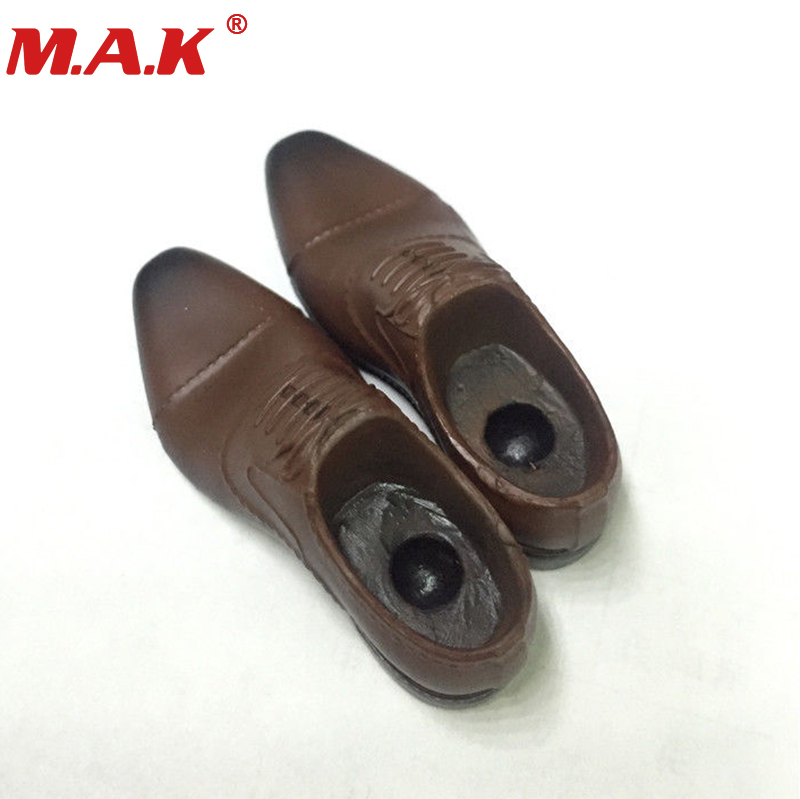 1/6 scale men's man male boy brown leather shoes boots models fit for 12