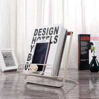 1PC Multifunctional Metal Foldable Bookends Reading Book Stand Recipe Document Organizer Holder Magazine Paper Shelf Stationery