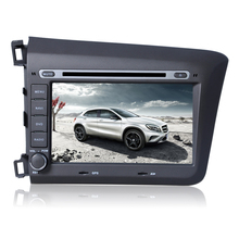 Free Shipping 8″ Touch Screen Car DVD Player GPS Navigation For Honda Civic 2012 Radio AM FM USB SD Ipod RDS Free map CAN BUS