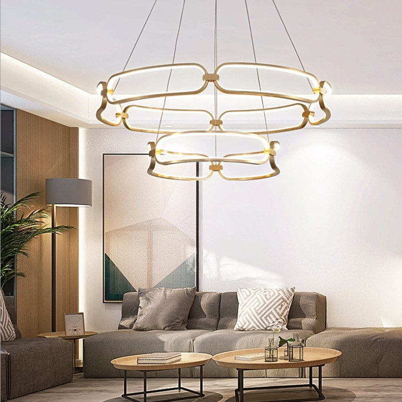 LED Pendant Lights with remote control Modern Pendant led lamp  For Living Room Bedroom Home Fixtures Free Shipping thumbnail