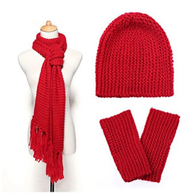 Ensemble 3 pièces bonnet, écharpe, gants 13