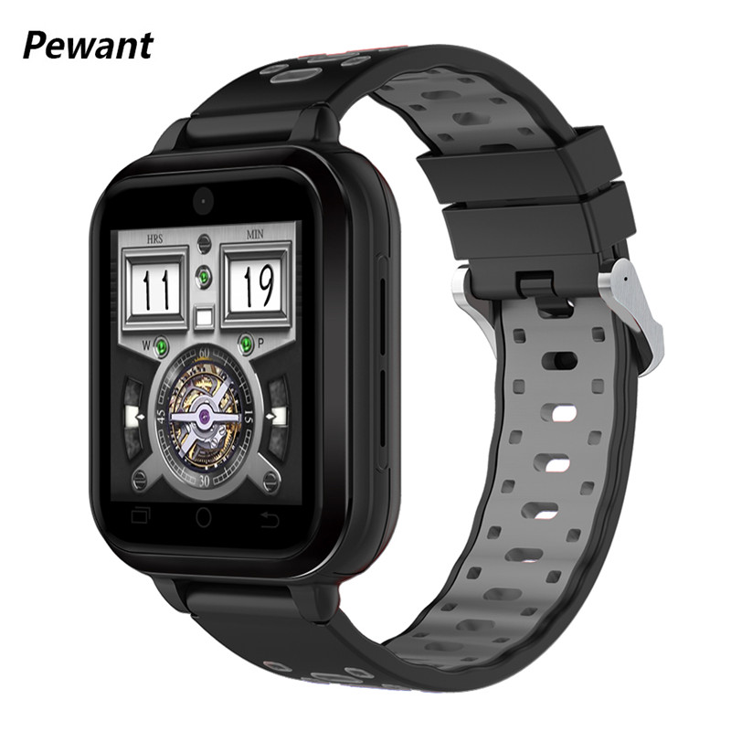 New Pewant 4G GPS WIFI Smart Watch Android 6.0 MTK6737 Quad Core Smartwatch With 720mAh Battery Support Download Smart-watch ...