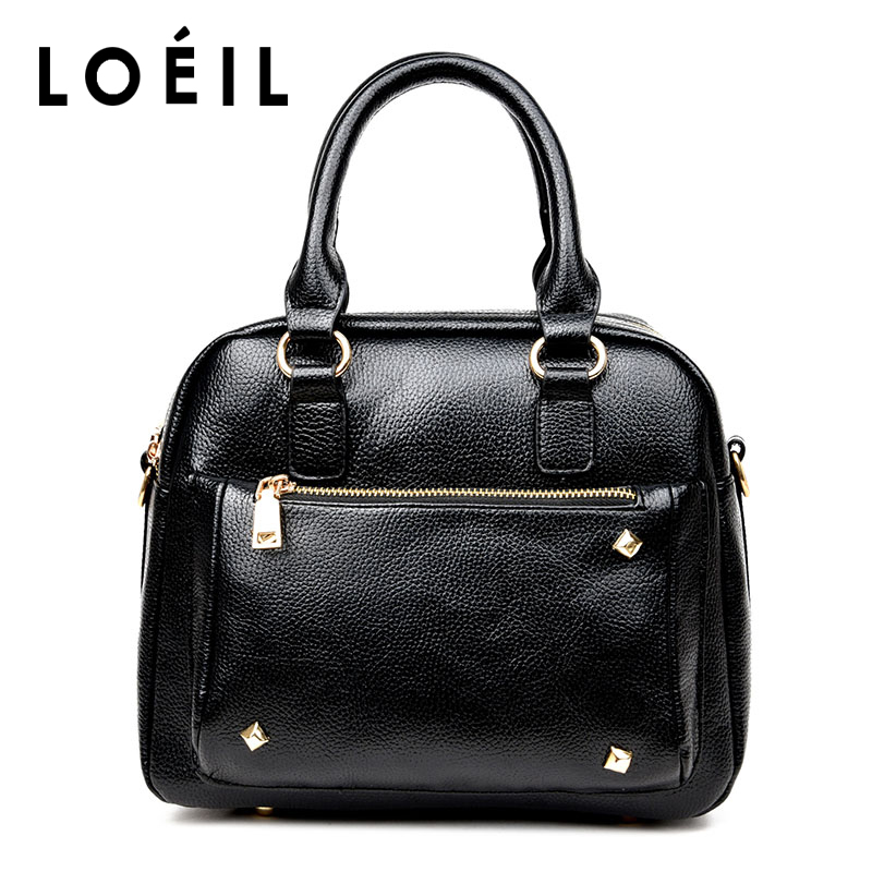 LOEIL 2018 new fashion ladies leather handbag high quality shell messenger bag leather shoulder Messenger bag naisibao2018 new luxury fashion 100% high quality leather handbag shell bag messenger bag leather embossed wind coat