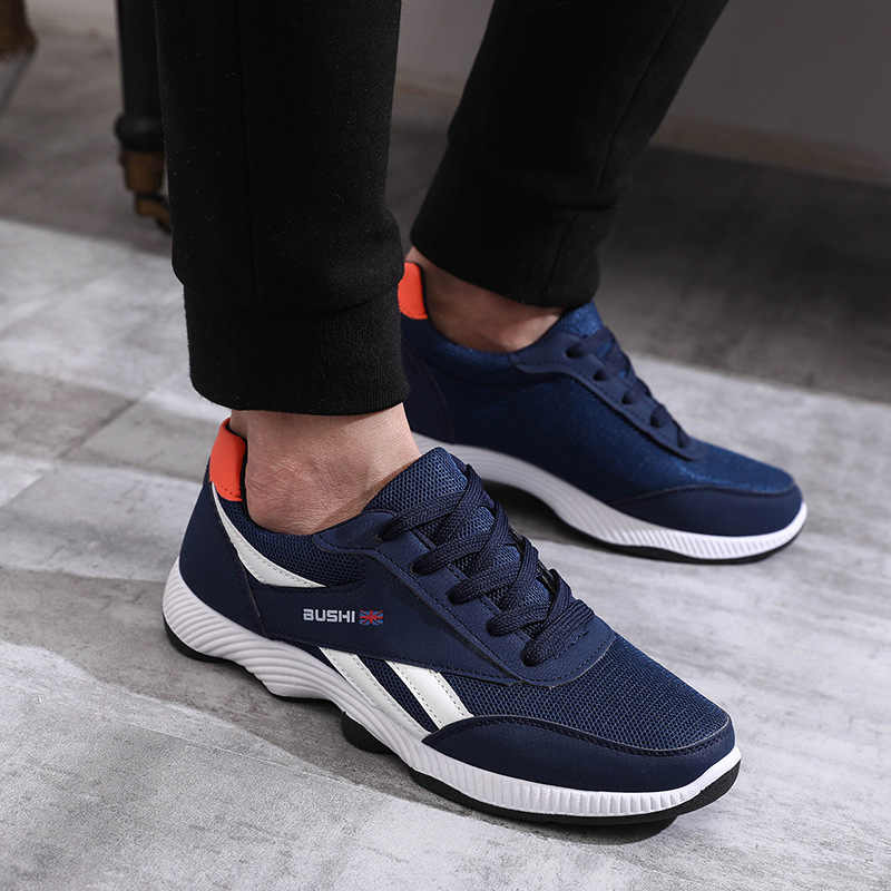 Erkekler Sneakers rahat ayakkabılar Marka Lac-up Erkek Ayakkabı Hafif Rahat Nefes Yürüyüş Sneakers Kayma Bahar Sonbahar