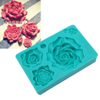 Wholesale 10 Pcs Lot 5 Size Peony Shapes 100 Food Grade Soft Silicone Fondant Cake Chocolate