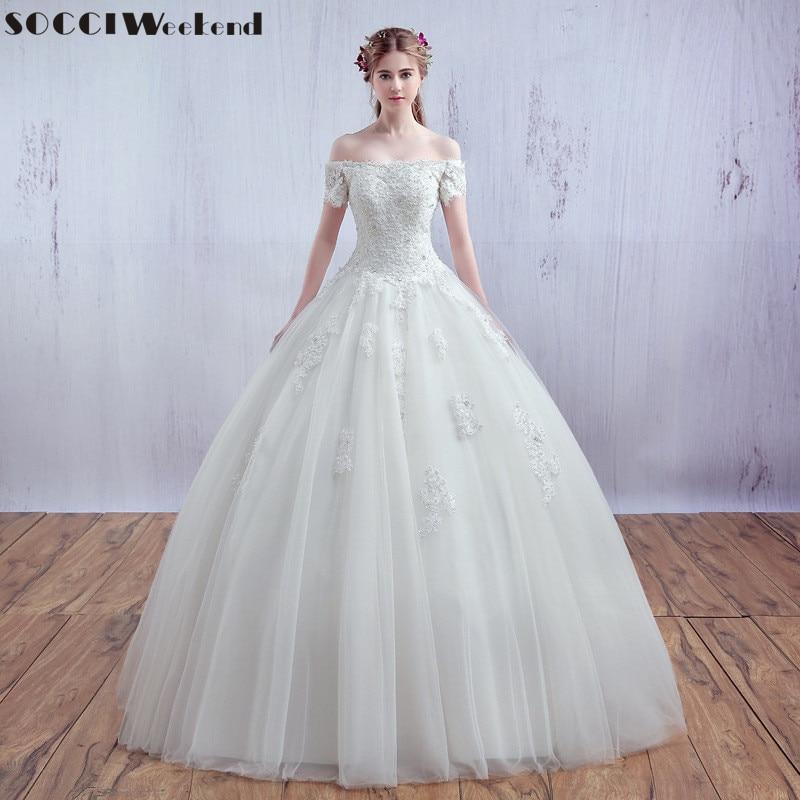 593323a61c SOCCI Vestido De Noiva luxus francia tüll csipke esküvői ruha rövid ...