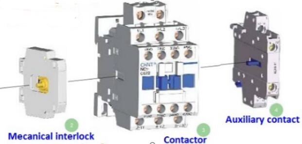 Sea Shipping NC8-50/4  4P AC 220V Coil +Auxiliary contact+Mecanical interlock earth leakage circuit breaker  residual current leakage circuit protector air switch residual current circuit breaker dz15le 100 490 100a