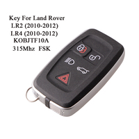 433Mhz/315Mhz Remote Control Key For Land Rover LR2 LR4 2010 2012 Car Key For Land Rover Sport 2009 2011 KOBJTF10A FSK
