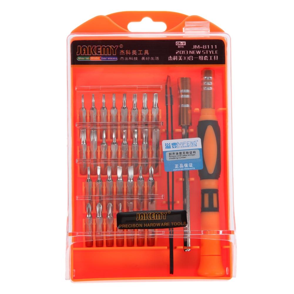33 En 1 profesional destornillador magnético Hardware Herramientas de reparación para portátiles móviles dispositivos pulsera