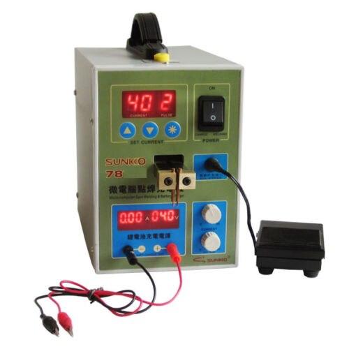 SUNKKO 788+ Dual Pulse Battery Spot Welder Welding Machine +Battery Charger 220V