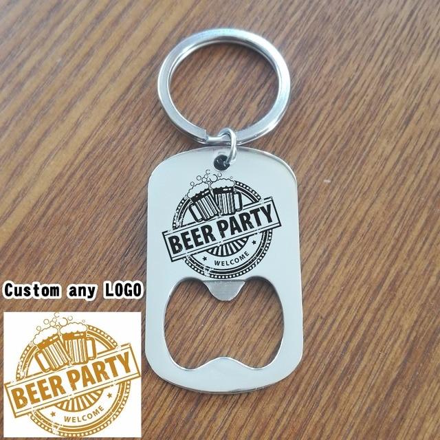 custom beer bottle opener keychain personalized stainless steel