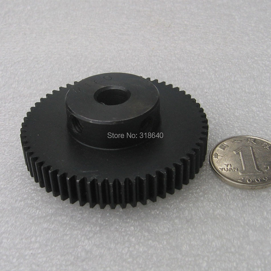 Spur Gear pinion 1M 60T 60Teeth Mod 1 Width 10mm Bore 10mm Right Teeth 45# steel positive gear CNC gear rack transmission RC spur gear pinion 2m 15t 2 mod gear rack 15 teeth bore 12mm keyway 4mm 45 steel cnc rack and pinion