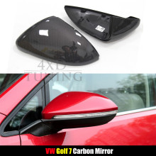 for Volkswagen VW Golf 7 MK 7 Carbon Fiber Morrir Cover Replacement & Add on style 2009 2010 2011 2012 2013 2014 2015