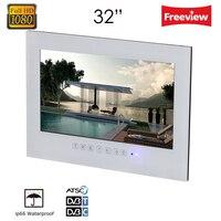 Souria 32 дюймов белый/черный настенное крепление Водонепроницаемый Ванная комната отель Кухня большой экран lcd IP66 IP67 светодиодный ТВ