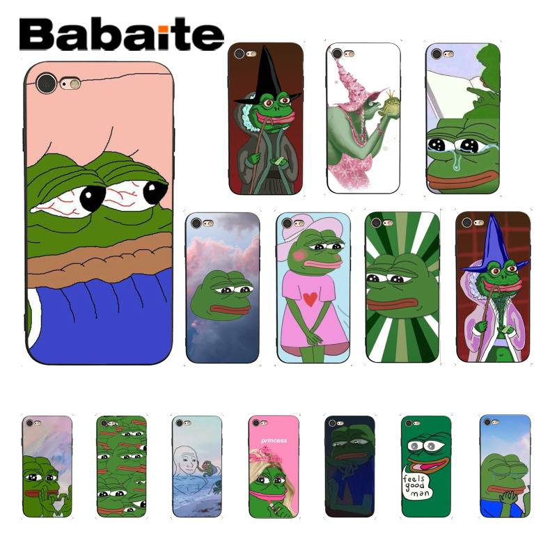 newest a33ec 9a065 US $0.92 38% OFF|Babaite Sad decadent frog Customer High Quality Phone Case  for iPhone 8 7 6 6S Plus X XS MAX 5 5S SE XR 10 Cases-in Half-wrapped ...