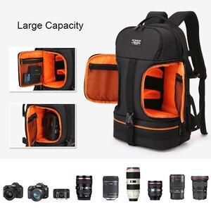Image 4 - Bolsa de cámara para viajes al aire libre SLR mochila de fotos impermeable Oxford tela cámaras bolso de hombro para Canon 5D 7D Nikon D3400 Sony A6000