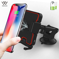 Car Automatic Qi Wireless Charger For iPhone X 8 Car Mount Fast Wireless Charging Dashboard Phone Holder For Samsung Galaxy S9