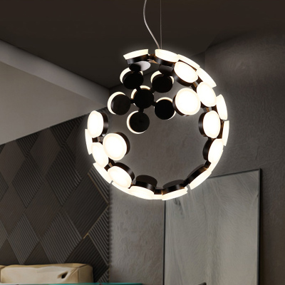Nordic Modern Pendant Light Creative Pendant Lamp Acrylic Ball Hanging Lamp Nordic Designer Light Art Deco Lighting Abajur D50CM
