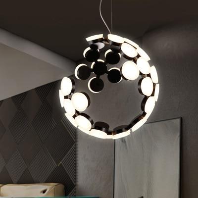 Nordic Modern Pendant Light Creative Pendant Lamp Acrylic Ball Hanging Lamp Nordic Designer Light Art Deco Lighting Abajur D50CM