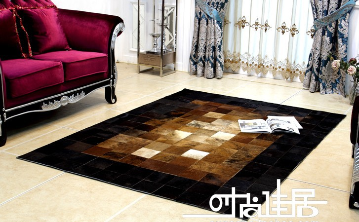 free shipping 1 piece 100% natural handmade cow leather carpet to tile trim