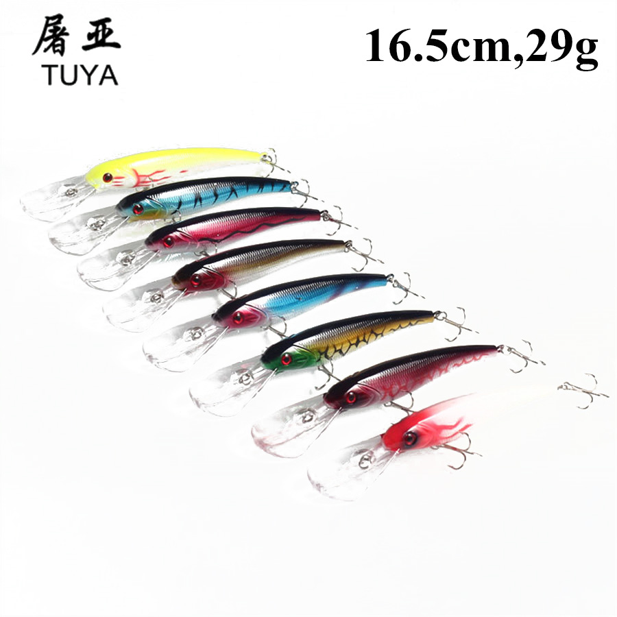 8pcs/Set Sea Trolling Minnow Artificial Bait 16.5cm/29g Big Wobblers Fishing Lures Carp Peche Crankbait Pesca Jerkbait 33# 1pcs 15 5cm 16 3g wobbler fishing lure big minnow crankbait peche bass trolling artificial bait pike carp lures fa 311