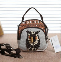 New Coming Multi Use Appliques Handbags Hot Women S Vintage Small Zipper Bags Hot Shopping Lady