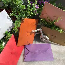 50 pcs/lot Fashion Retro Heart Shape Vintage Romantic Paper Envelop Gift For Wedding Invitation/Card Stationery 17.5*11cm