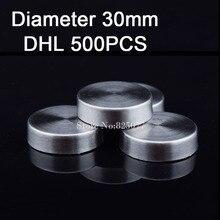 500 PCS Diâmetro 30mm parafuso da tampa tampas tampa publicidade parafusos de fixação standoff parafuso de aço inoxidável 304 espelho parafusos KF855