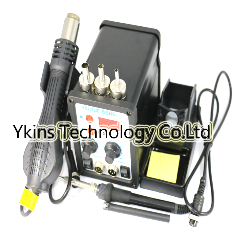 YOUYUE 8586 110V / 220V 700W 2 in 1 SMD Rework Soldering Station Hot Air Gun + Solder Ir ...