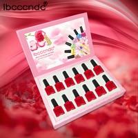 12 Pcs/Lot Nail Gel Polish 10ml Red Series Nail Polish UV Gel Soak Off Varnish Manicure Nail Art Design Set