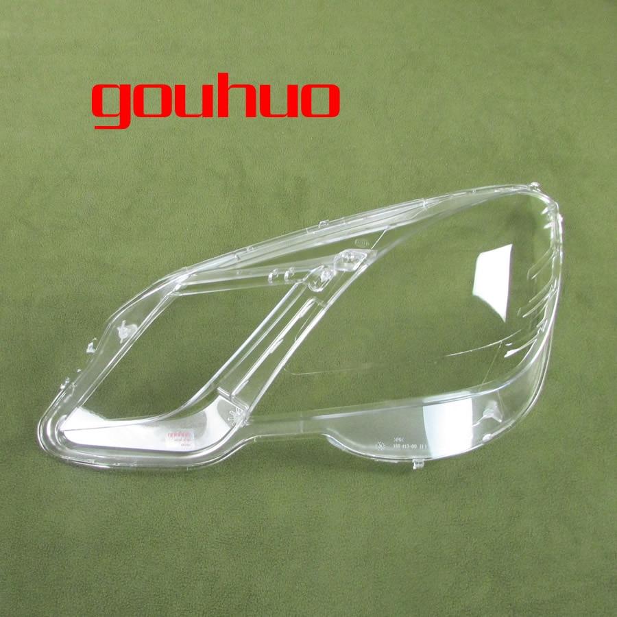 For 10 13 Mercedes Benz Four Door E Class W212 E200 E260 E300 E350 Headlight Shade Headlamp Shell Lampshade Lens Glass 1pcs