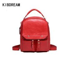 KIBDREAM 2016 Preppy School Bags for Teenage Girls Hot Sale Leather Bagpack Women Backpack Ladies Causal Travel Shoulder Bags