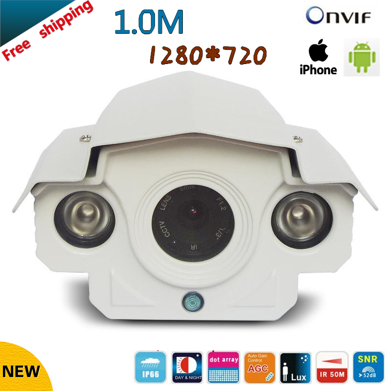 ФОТО 2017 NEW 720P Securiy Waterproof HD Network CCTV Camera Support P2P and ONVIF2.0 H.264 Free shipping